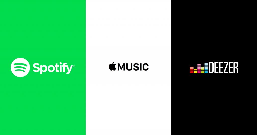 แอพพลิเคชั่น Spotify Apple Music Deezer