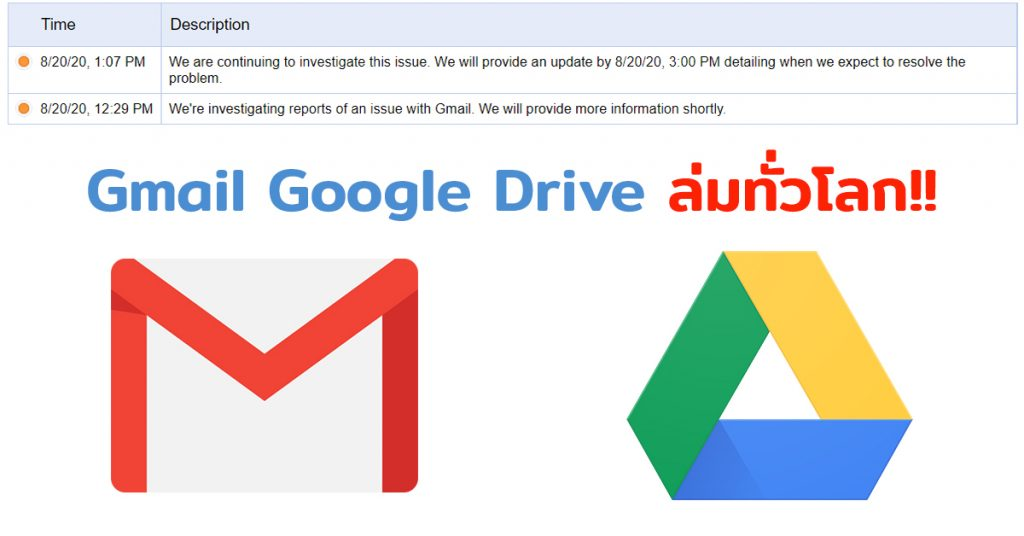 G-mail ล่ม