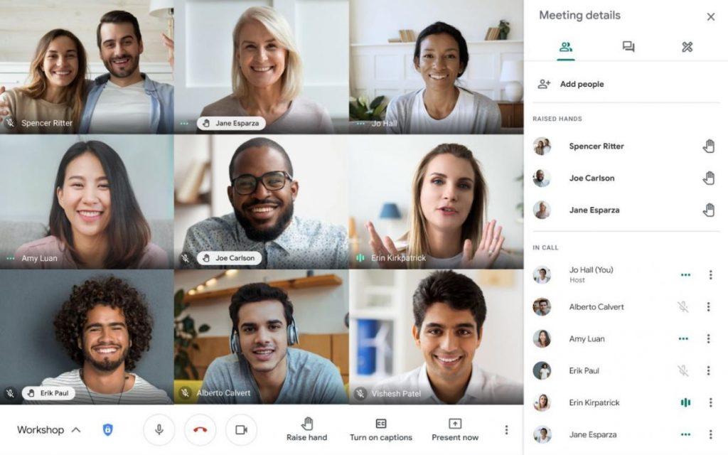 Google Meet ฟีเจอร์ยกมือ Hand Raising