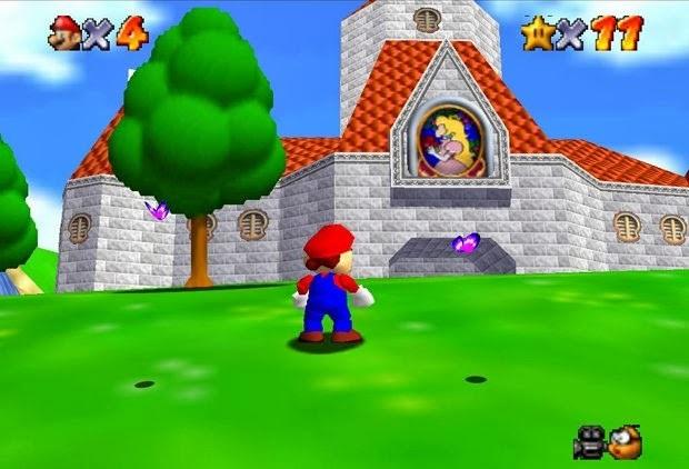 Super Mario 64-ฉากในเกม